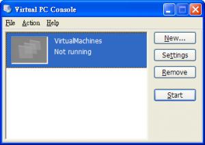 Virtual PC畫面