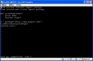 FreeBSD下的Twisted測試用程式