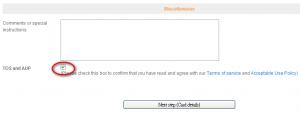 WebFaction申請接受條款