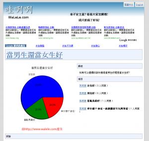 WaLeLe 哇咧咧 網站畫面